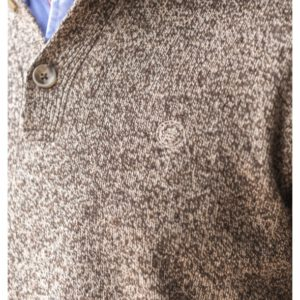 Pull à col boutonné en laine mélangée.pul1901a18300sb-0146_5_1