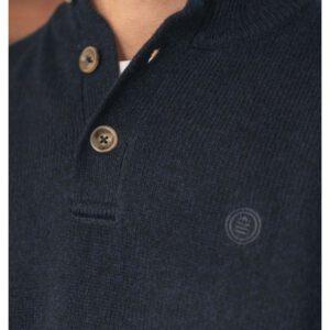 Pull à col boutonné en laine mélangée Indigopul1901a18300sb-0550_2_4