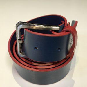 ceinture cuir bicolore Breizh Rugby
